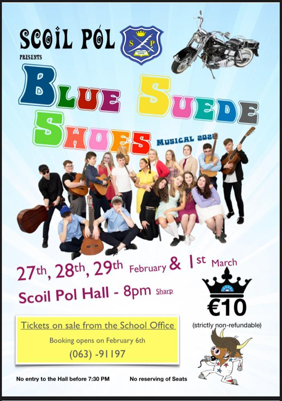 Scoil Pol Blue Suede Shoes Musical